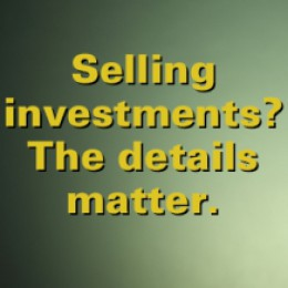 Selling investments